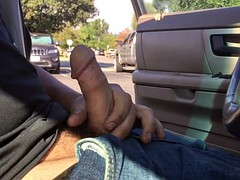 outdoors in the parking lot with cum