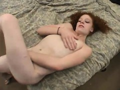 Fun ugly redhead is currently masturbating on-camera