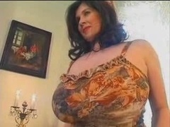 bbw chubby and besides huge saggy tits12