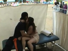 Amateur girls voyeur loving in public place