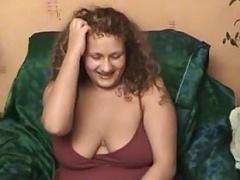 rotund girl on sofa