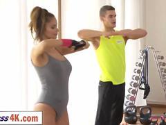 Czech hottie Barbara Bieber is having great sex after sweaty group workout