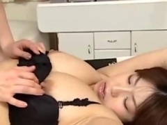 Boobalicious Asian Gal Handcuffed Nipples Sucked Shaggy Cunt Licked By Other Gal On The Bed In The Bedroo