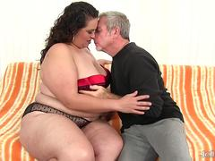 BBW Angelina is back taking fat cock