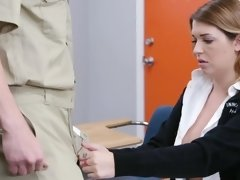 Slutty blonde schoolgirl gets nailed by a very horny janitor