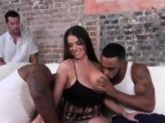 Busty cuckolding wife fux