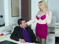 Hardcore office affair with sexy stockings slut Christie