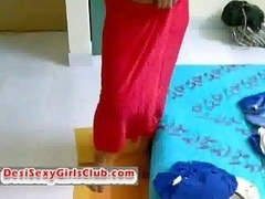 Sexy Desi Indian Gal Neha Showing Saree To Boyfriend Before Sex