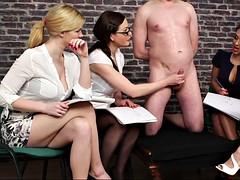 Grosse bite, Bondage, Homme nu et filles habillées, Tir de sperme, Européenne, Groupe, Branlette thaïlandaise, Hd