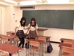 Uniformed Japanese Girls Black Pantyhose Fun