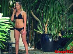 Hardfucked teen babe screwed by a stranger