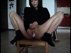 Cira from 1fuckdatecom - Milf quick squirt watching porn