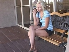 Blonde teen Eden massaging and additionally getting down and dirty