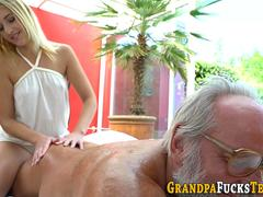 Smoking hot blonde desires to give a head to that massive pecker and get it on  with this fellow