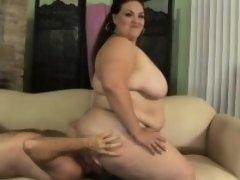 Chubby Latina Angelina loves to be treated like a slut by a hung guy