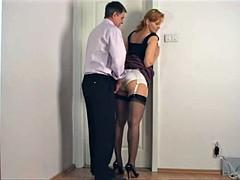 Lingerie, Sekretärin, Strümpfe