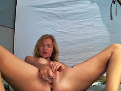 Solo girl with an amazing toy