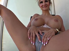 Swedish MILF with monster curves gets analyzed on the balcony