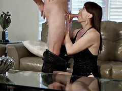 sassy transbabe natalie mars gets caught by her stepson fucking