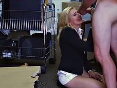 Blonde Sucks A Big Dick In A Storage Unit