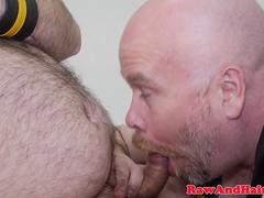 Superchub facefucks and barebacks heavy bear