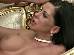 dick riding on expensive chair with larissa dee