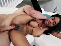 Lily Jordan deep throats a thick cock