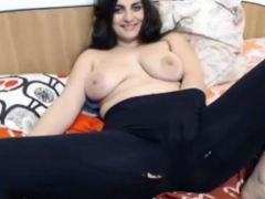 Russian girl boredly lets you watch as she touches herself