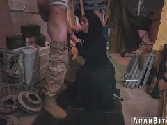 Arabe, Armée, Sucer une bite, Réalité, Adolescente, Uniforme