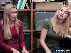 Blonde babe gets punished for her shoplifting with a dick