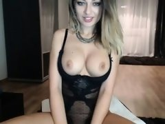 Euro babe in lingerie has some nice big boobs