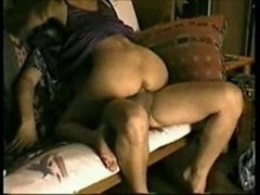 Excited Cheating Wife giving bj and additionally riding Dick on my Futon