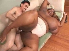 Real bbw Ebony get down and dirty old man
