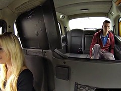 Bigtitted london cabbie doggystyled after bj