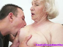 busty granny gets her hairy pussy fucked movie