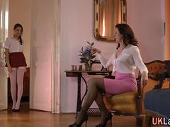 Lesbisch, Masturbation, Reif, Jungendliche (18+), Uniform