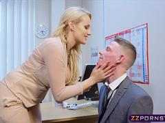 Sexy busty teacher fucked hard in her office