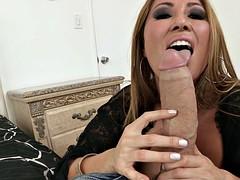 kianna dior gives him a nice slow and sensual blowjob
