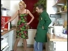 German housewife devours the plumber