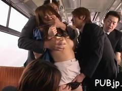 totally groped in crowded train clip