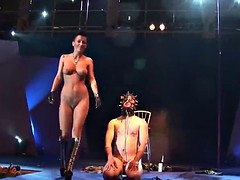 extreme fetish show on stage