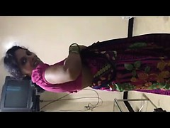 Horny Indian Bhabhi Stripping Naked For Hubby