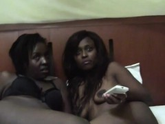 Here we have two very hot ebony dykes who are ready for