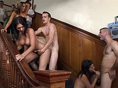 Group fuck and group cumshot on face!
