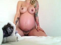 Huge Nipples of my pregnant girlfriend