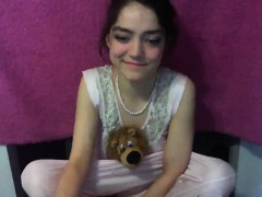 Brunette brune, Masturbation, Solo, Adolescente, Webcam