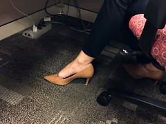 candid shoeplay in office 2