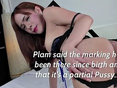 ts plam thin body shows her ass hole and being licked by Youlian