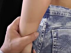 teen in denim shorts fuck