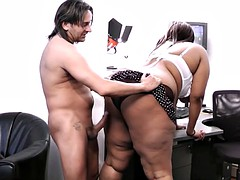 Black booty boned with miles of hard wet schlong